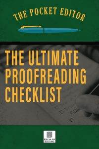 The Ultimate Proofreading Checklist from Eschler Editing